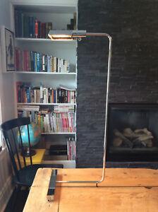 Mid Century Cedric Hartman Adjustable Chrome Reading Floor Lamp