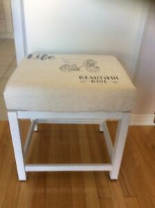 Entrance bench or vanity stool refurbished.Firm price.