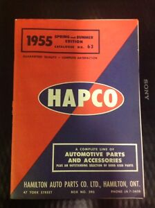 VINTAGE HAMILTON AUTO PARTS PARTS AND ACCESSORIES 1955 CATALOGUE