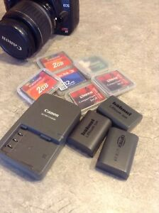 Camera batteries & CompactFlash Memory cards for Canon Rebel