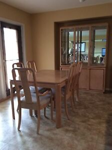 Dining room table 6 chairs and buffet
