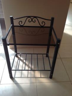 Glass table or bedside table