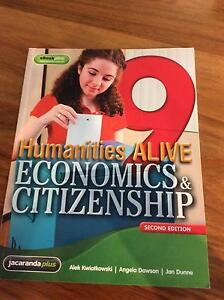 Humanities ALIVE 9 Economics & Citizenship second edition Jacana Hume Area Preview