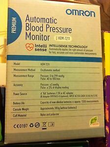 Omron premium blood pressure monitor. HEM 7211 Hillside Melton Area Preview
