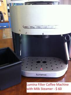 Lumina Espresso Coffee Machine with separate milk frother
