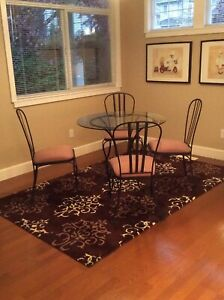 Wrought iron table set