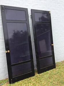 timber and glass doors negotiable 6 x timber and glasses doors