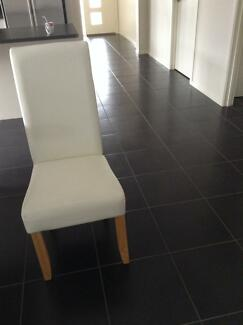 Leather dinning chair (set of six) City North Canberra Preview