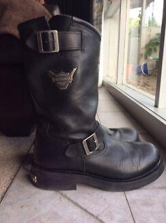Harley Davidson motorcycle riding boots.