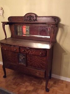 200 year old antique hutch
