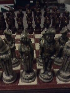 Chess set for sale.