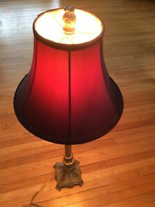 Table Lamp (red shade)