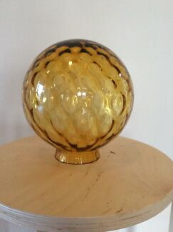 Vintage ART DECO Amber bubble glass light shade round sphere Renmark West Renmark Paringa Preview