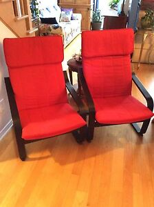 IKEA Red Chairs brand new