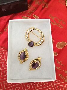 Beautiful Brooch and Earring Set