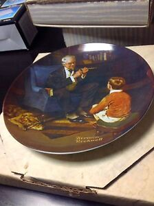 """Norman Rockwell """"the Tycoon"""" collector plate Cambridge Kitchener Area image 2"""