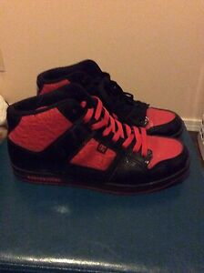 Red and Black DC Men's size 11 shoes