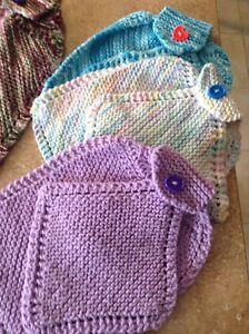 Hand Knitted Dish-dryer/Dishcloth Sets