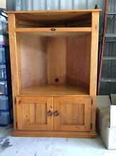 Solid pine corner entertainment unit with inbuilt cupboard space Kewarra Beach Cairns City Preview