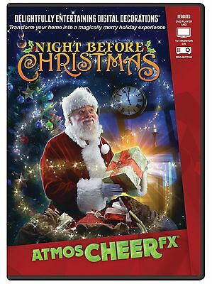 CHRISTMAS ATMOSCHEERFX NIGHT B4 CHRISTMAS Virtual Show DVD TV WINDOW PROJECTION ()