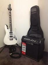 Ibanez Electric Guitar, Amp, bag, stand and chords. Mindarie Wanneroo Area Preview