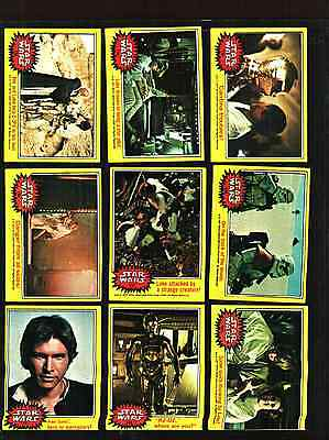 1977 TOPPS STAR WARS CARDS SERIES 3 YELLOW..... EXCELLENT+++ CONDITION