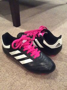 Girls Adidas soccer shoes - size 3
