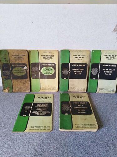 Vintage lot of John Deere farming equipment manuals