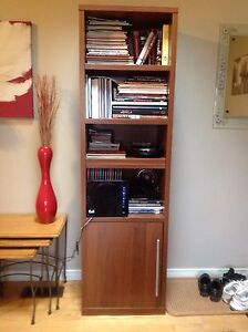 Modern 2 Shelf Units with storage at bottom, mint condition
