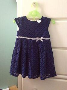Robe CARTER'S bleu indigo & culotte & veste  -9-12 mois-