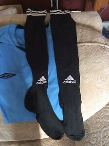 Youth soccer socks and shirts