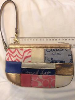Coach denim, metallic and colours mini bag Loganholme Logan Area Preview
