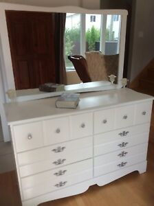 Dresser refurbished.Firm price. Nightstands for sale.