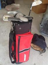Boys golf bag with clubs- used Mindarie Wanneroo Area Preview