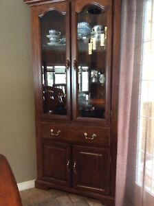 For sale-Corner China cabinet - in really good shape no damage