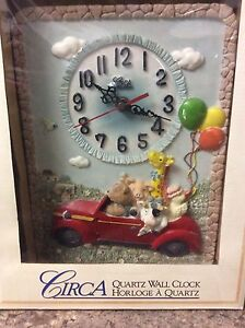Cute and colourful quartz clock for kids room