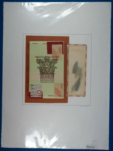 "Maria Eva Signed ""Sowing Seeds Series"" Original Mixed Media Collage on Paper LOA"