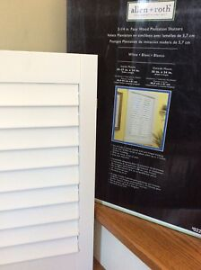 """Shutters - Faux Wood Plantation Shutters. 2 1/4"""" (see pics) New"""