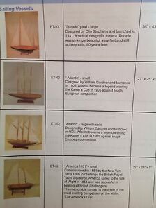 Historic sailboat display models