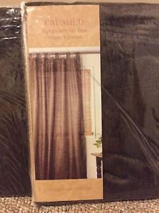 Chocolate Brown Tab Top Curtains and Pillow Cases Cambridge Kitchener Area image 2