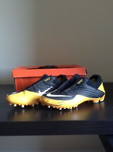 Nike football speed TD cleats shoes- black yellow white