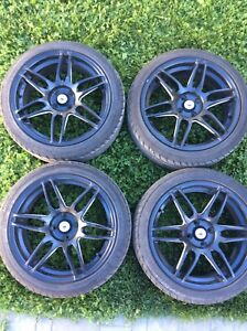 """Konig 17"""" rims with almost new performance tires"""