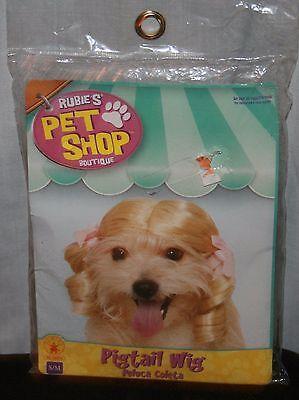 Rubies Pet Shop Boutique Zopf Perücke Hund S M Schwein Schwanz Blond Kostüm