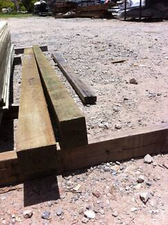 2 X TREATED HARDWOOD POSTS 100 X 75 @ 2.4 ( L ) $20 THE PAIR