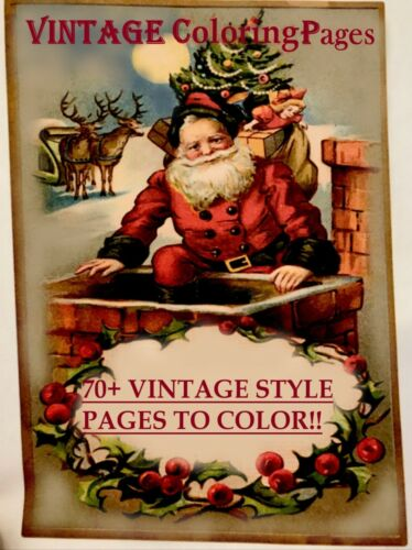 Handmade VINTAGE CHRISTMAS COLORING - 70+ Pages