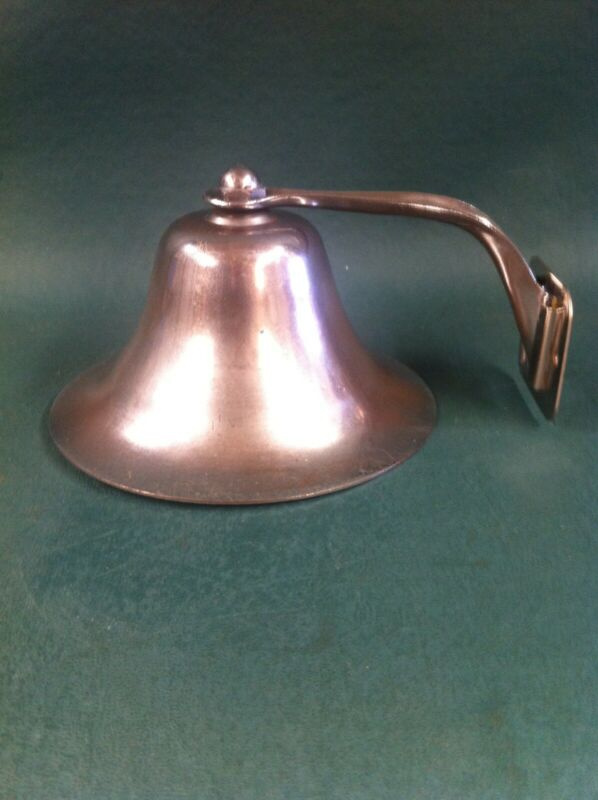 Vintage Marine Fog Bell, Chrome Plated Brass