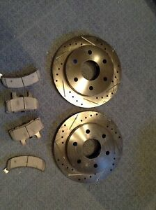 Slotted and drilled brake rotors
