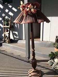 Vintage turned wood lamp stand tall solid decorative plant Port Macquarie Port Macquarie City Preview