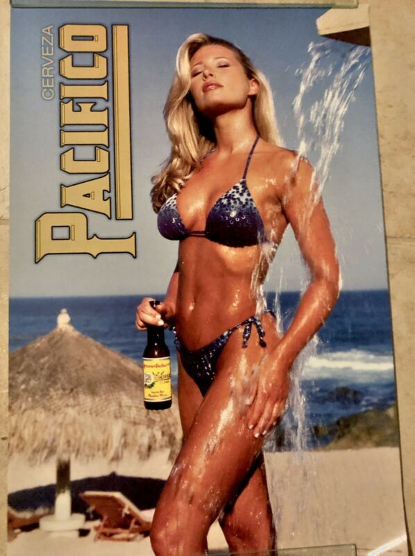 "PACIFICO BEER HOT SEXY BLONDE BIKINI SWIMSUIT NEW 18"" X 26""  MY LAST ONE !!!"