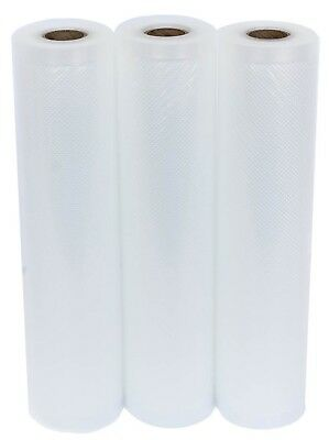 """3 Roll Pack Vacuum Sealer Vac Bags 11"""" x 20' Rolls for Food Saver Seal a Meal"""